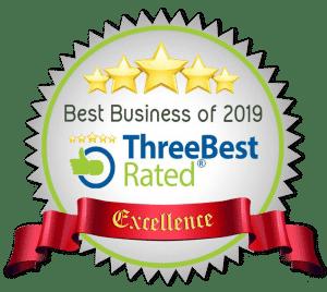 three best business emblem