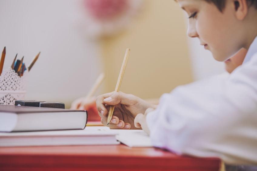 studying child