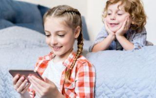 Kids using gadgets